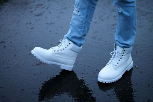 White timberlands shoes pinterest