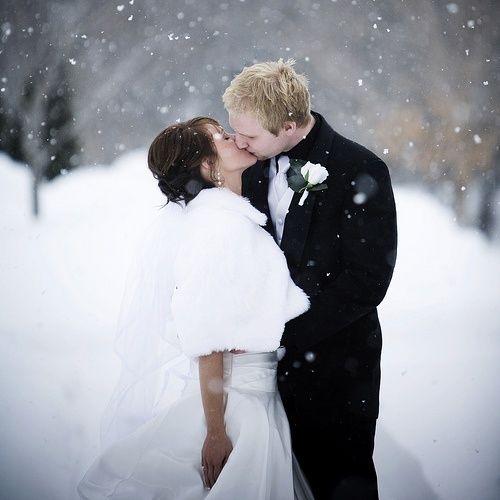 Whether rain, shine, or snow, we hope brides are keeping warm this season! #weddingwednesday #wedding