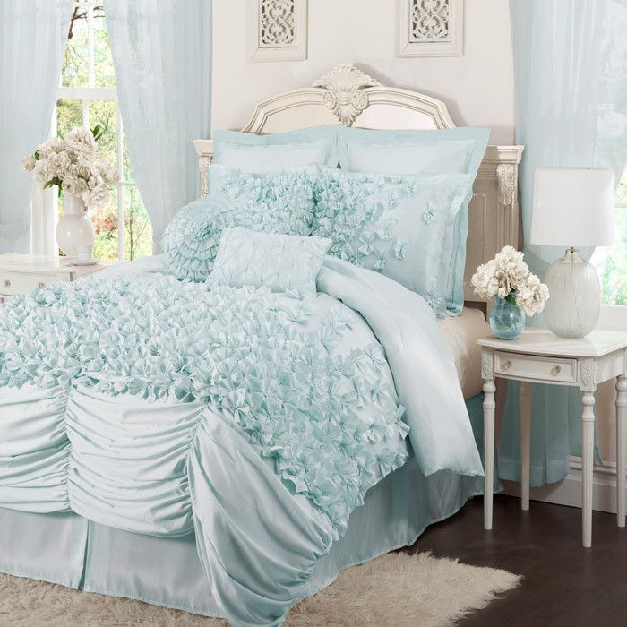 Piece Talia Comforter Set in Blue | Beautiful Bedding | Pinterest