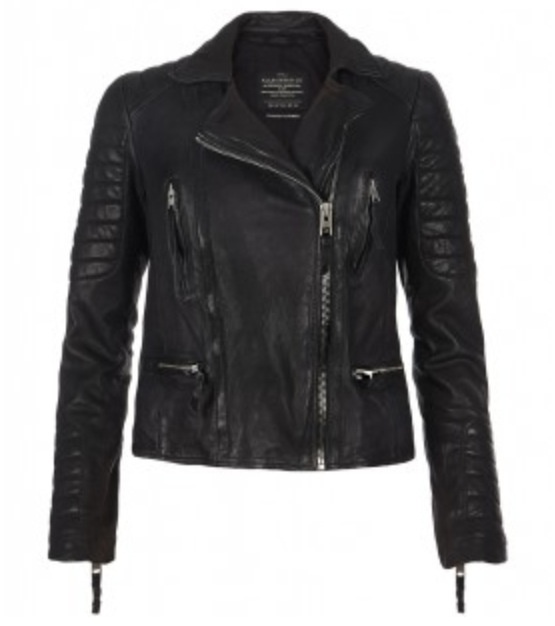 Allsaints / Leather Jacket. The store with the sewing machines. Such