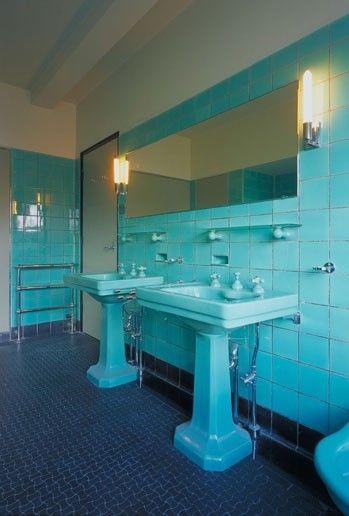 Travertin In De Badkamer ~   20 & jaren 30 woning  tegels  badkamers  gang  keuken  Pinterest