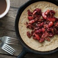 Whole Wheat Dutch Baby with Maple-Pecan Strawberries (Will attempt to ...