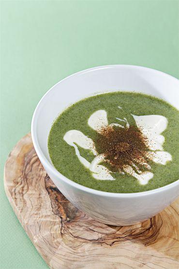 Nettle soup with buttermilk, Meyer lemon crème fraîche and Sichuan ...