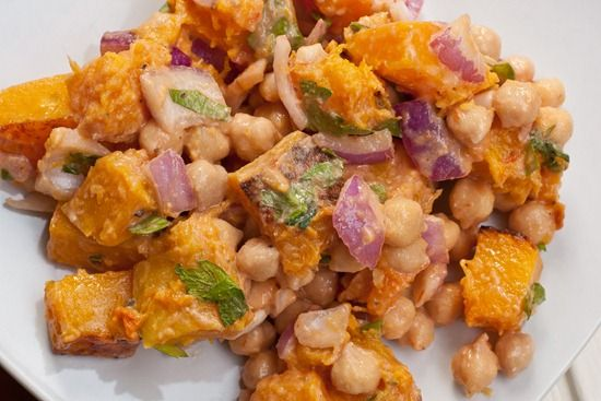 Warm butternut squash and chickpea salad - Oh She Glows - Comfort Food