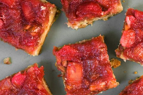 Rhubarb-Almond Bars | things I'd like to eat | Pinterest