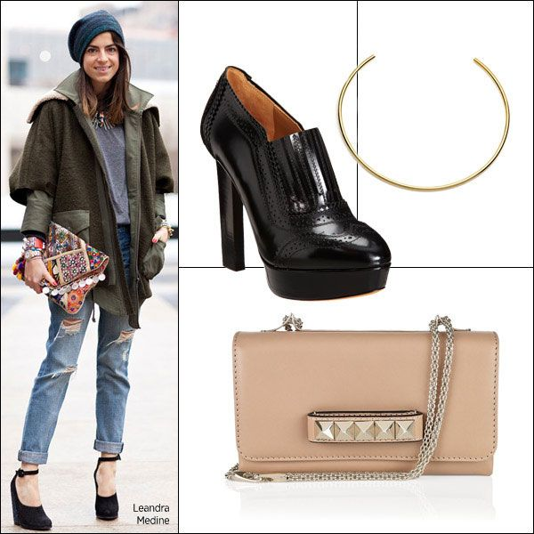 Fall Fashion Accessories for NYFW Spring 2013 – What to Wear to Fashion Week     Leandra Medine, manrepeller.com.    Givenchy shoes, $1,295, barneys.com.    Valentino clutch, $1,845, net-a-porter.com.    Jennifer Fisher choker, $100, jenniferfisherjewelry.com.