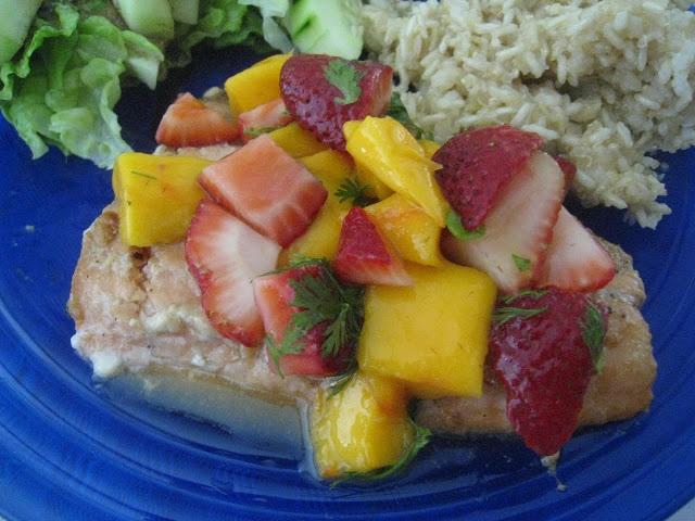 salmon with fruit salsa | Fishy | Pinterest