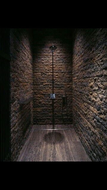 Rustic Shower Industrial Interior Design Pinterest