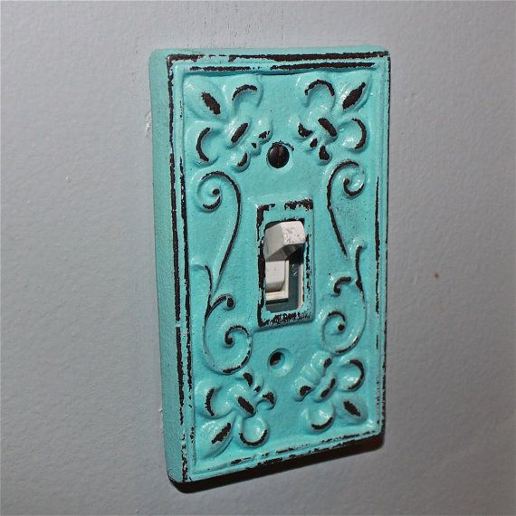 aqua decorative light switch plate single switch cover