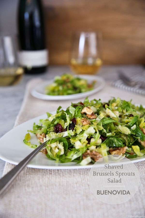 Shaved Brussels Sprouts Salad - I blanch my sprouts for 3 minutes and ...