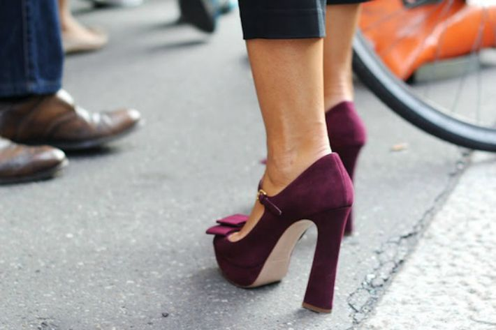 Love these oxblood shoes