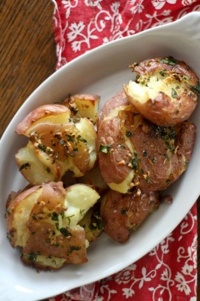 Smashed red potatoes | Eat, Drink & Be Merry! | Pinterest