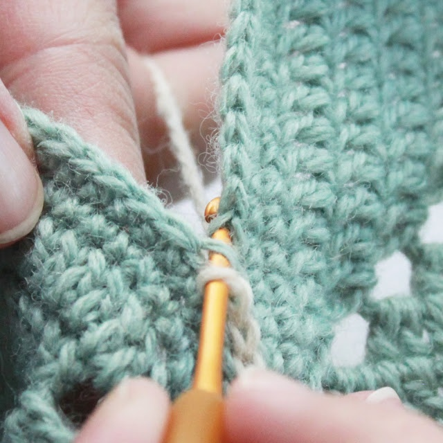 Crochet Stitches Joining : simple slip stitch join Knitting n Crocheting Pinterest