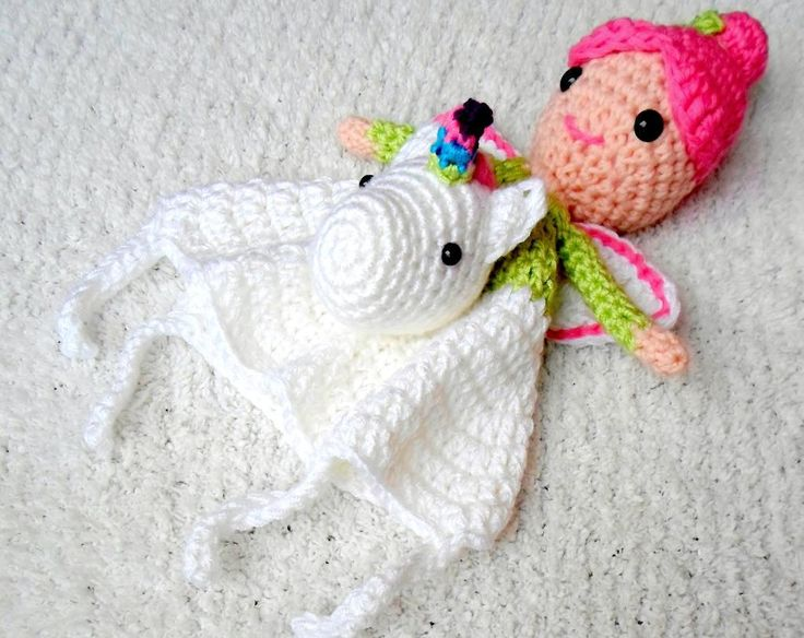 Fairy & Unicorn Lovey pattern on Craftsy.com $3.99