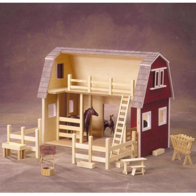 Real good toys ruff 39 n rustic all american barn kit 1 American barn style kit homes