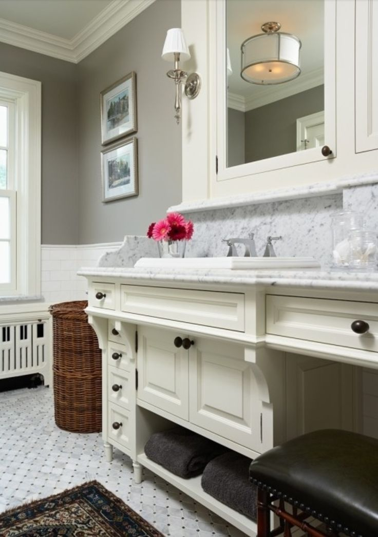 Benjamin moore rockport gray home garden lifestyle for Colors for bathroom cabinets