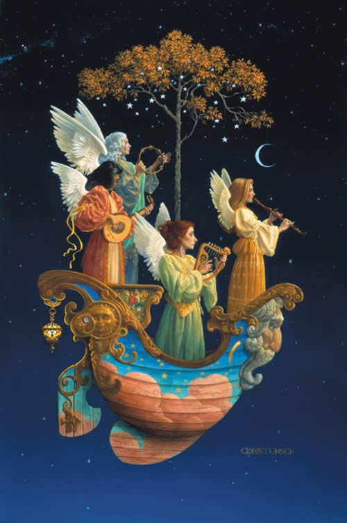 """Evening Angels"", James C. Christensen, jameschristensenart.com"