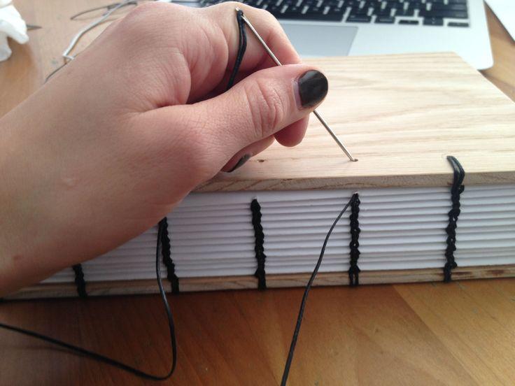 Diy Wooden Book Cover ~ Coptic binding book pinterest