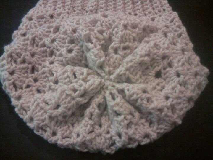 Crochet Shell Beanie Hat Pattern : Shell-V Slouchy Beanie Pattern Crochet Stuff Pinterest