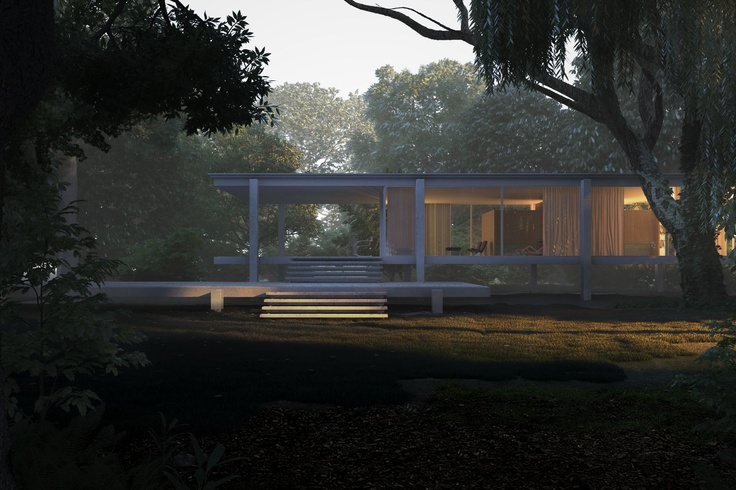 CGarchitect - Professional 3D Architectural Visualization User Community | Farnsworth house at dsuk