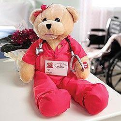 Animated singing nurse bear