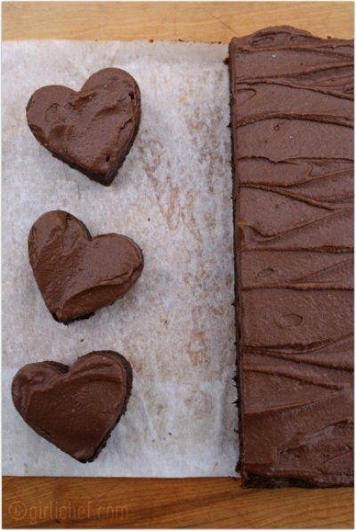 girlichef: Chocolate Fudge Brownies w/ Chocolate Buttercream Frosting ...