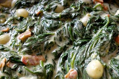 Creamed spinach with bacon and onions | Delicious Things | Pinterest