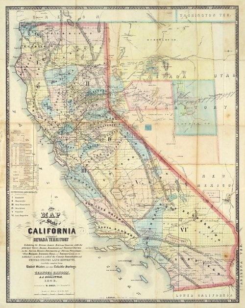90 Best Vintage California Maps Images On Pinterest