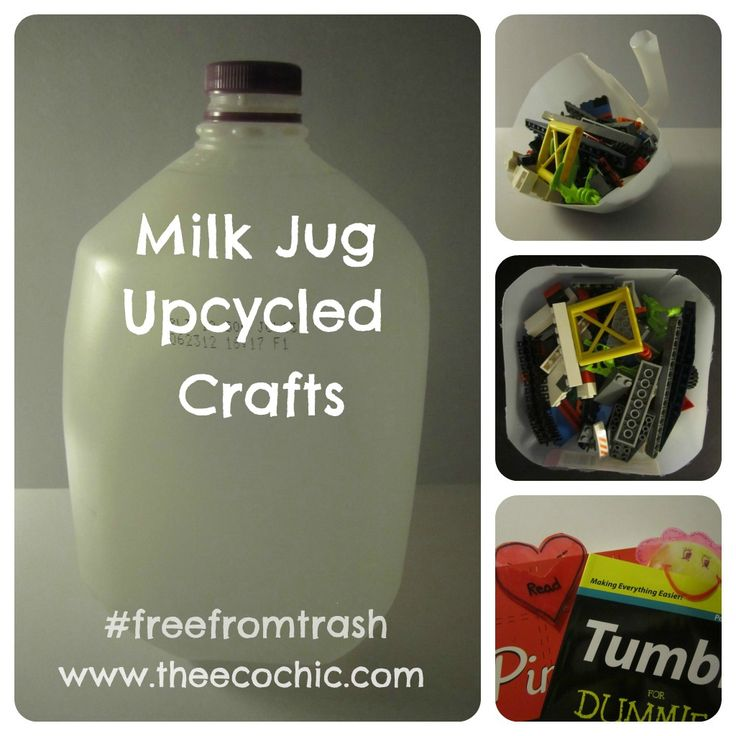 Milk Jug Upcycled Crafts  freefromtrashUpcycled Crafts