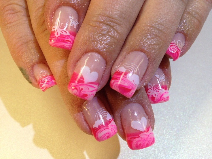 baby shower nails w stamped designs nails pinterest