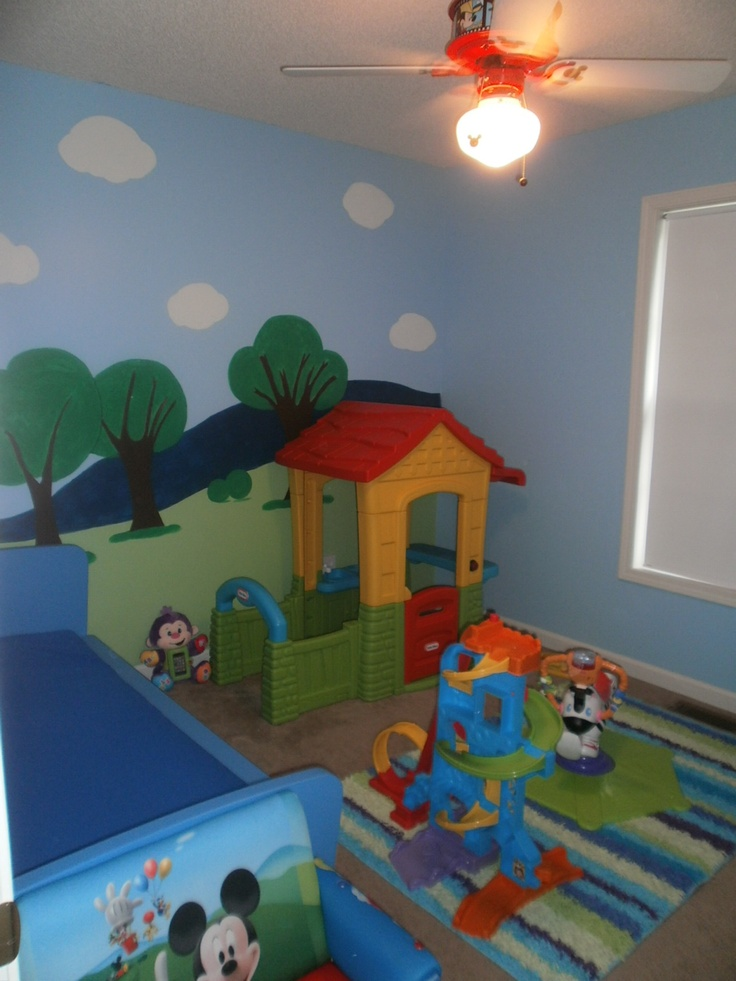 Commickey Mouse Kids Room : Little mans Mickey inspired bedroom  Toddler Room  Pinterest