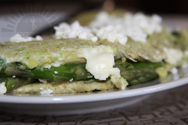 ... cheese omelet for two recipes dishmaps asparagus and goat cheese