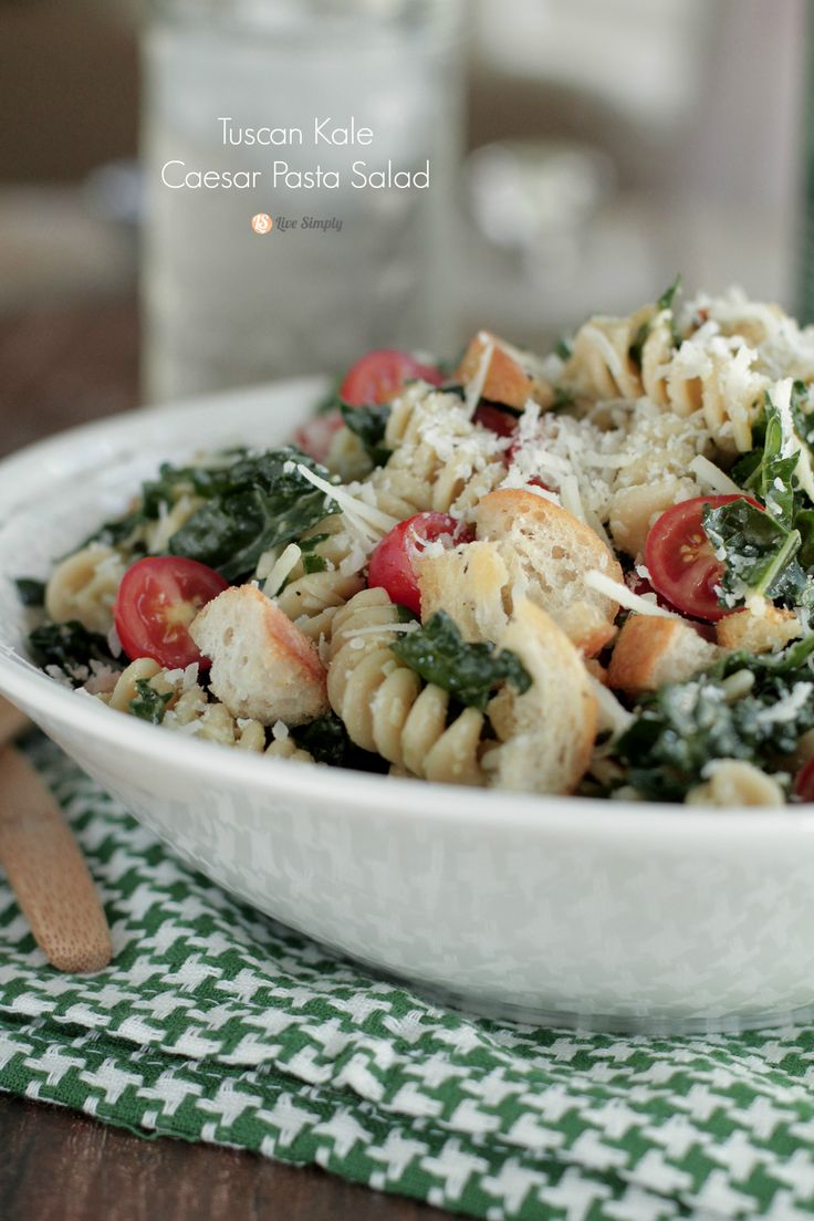 Kale Caesar Pasta Salad! A must-make for summer. Plus, a giveaway to ...