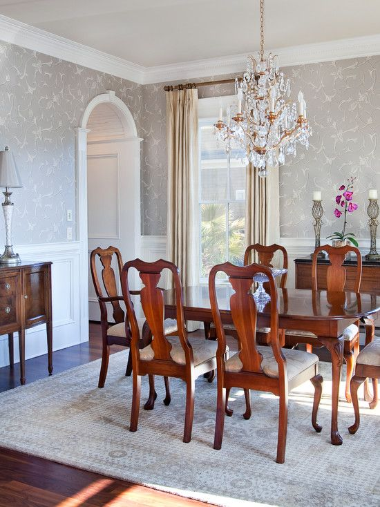 would picture frame molding dining room work-from-home mom