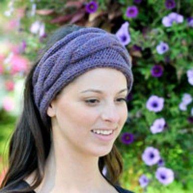 Free pattern Cascade Chunky Cabled Headband - Paradise Fibers