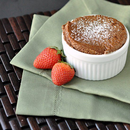 Individual Chocolate Souffle perfect for Valentine's Day