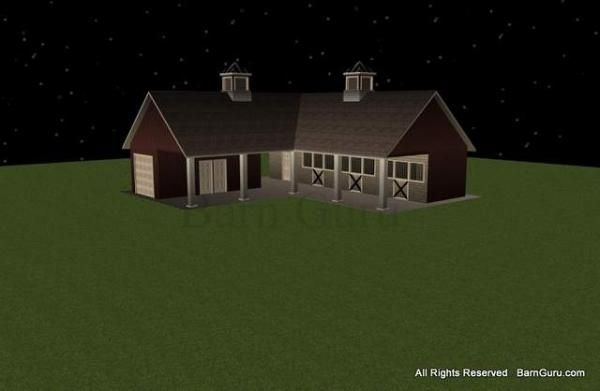 3 Stall Horse Barn Plans My Passion Pinterest