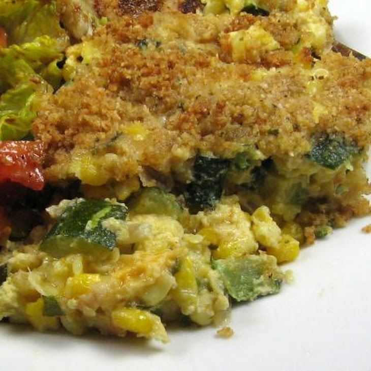 Zucchini and Corn Casserole Recipe | Zucchini Summer Squash Recipies ...
