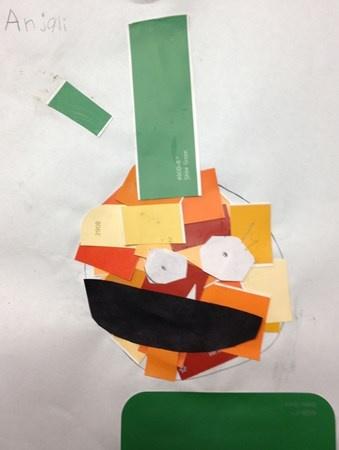 valentine art elementary students