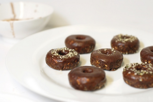 Double Cacao Dipped Mini 'Donuts' Recipe | Raw Vegan | Pinterest