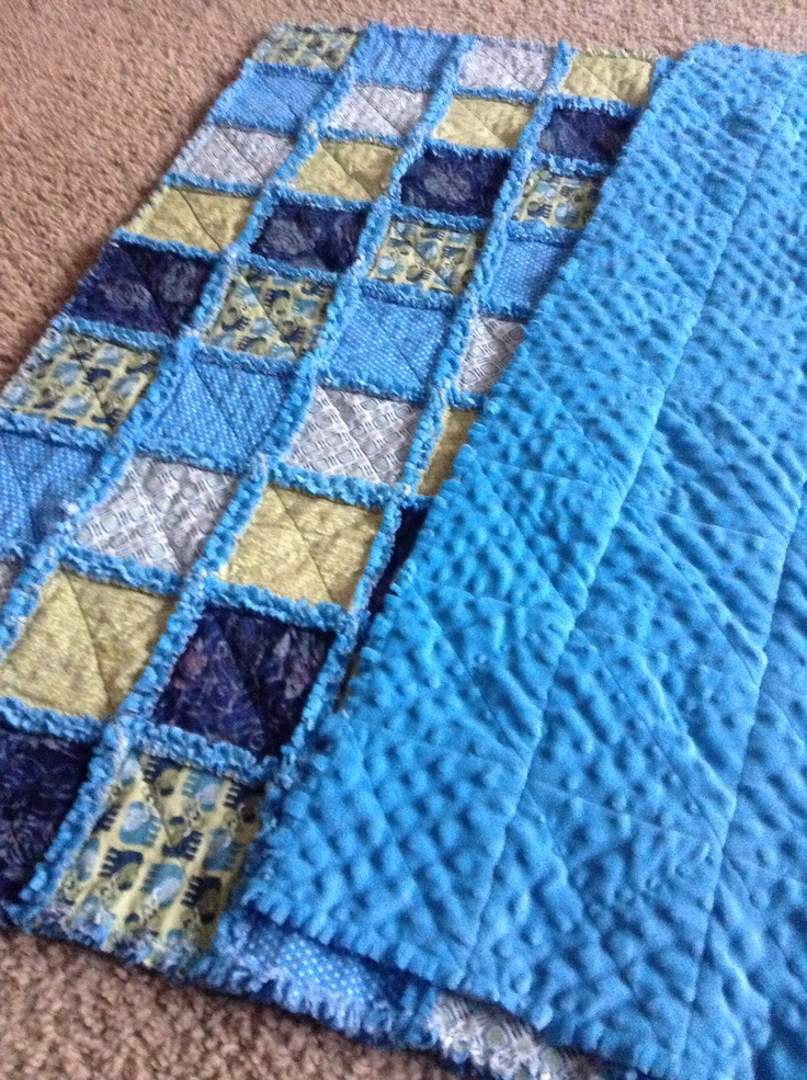 Minky Backed Rag Quilt sewing Pinterest