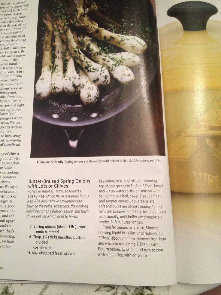Butter braised spring onions | Things I'd be excited to cook | Pinter ...