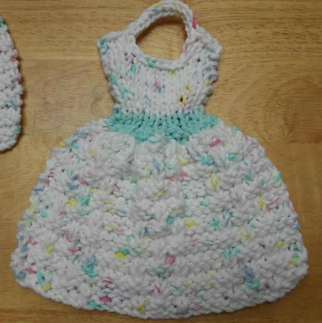 Knit Dishcloth Pattern Ravelry : Lets Go to Dublin Knit Dress Dishcloth pattern by Debbie Trainor