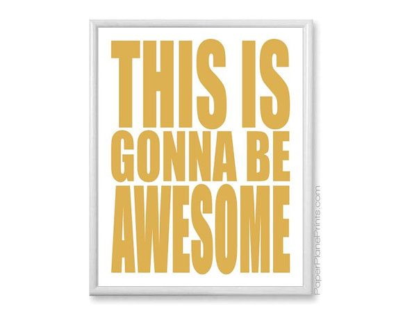 Source: Awesome Inspirational Wall Art Gold Quote Print By Paperplaneprints