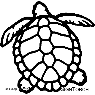 ... Ridley Sea Turtle 2 Ready to Cut AutoCAD DXF files and Vector Clip Art