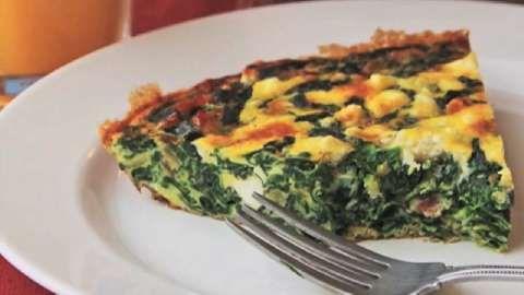 Quiche Crustless Chef John's Spinach and Feta Pie Allrecipes.com