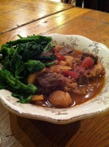 Moroccan Lamb Stew With Figs, Lemon and Broccoli Rabe