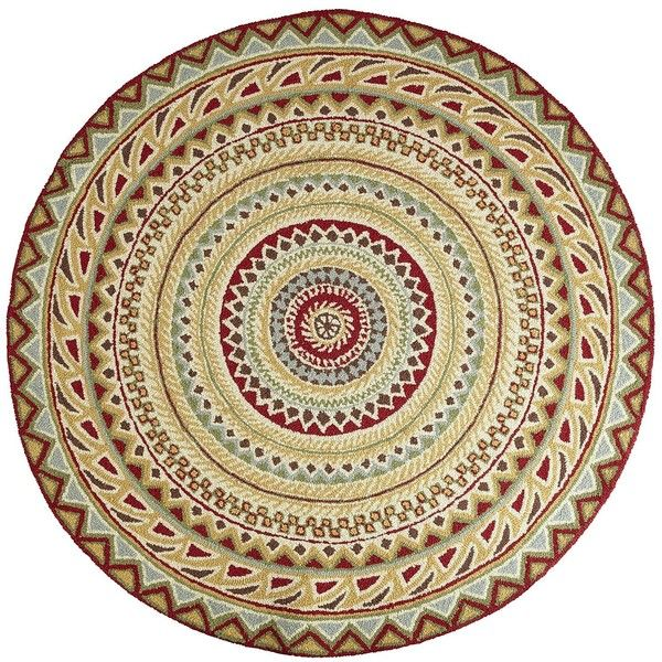 Pier 1 imports fair isle round rug red fabrics and Pier one rugs