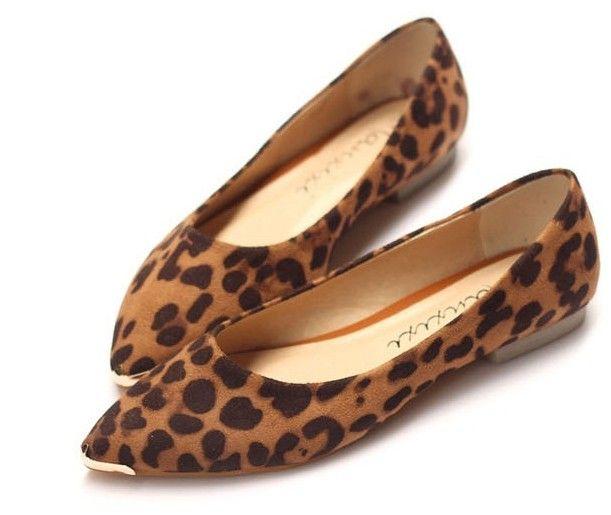 Fashion Ladies Brown Leopard Shoes lol