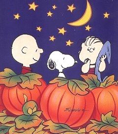The Peanuts Gang awaiting the arrival of the Great Pumpkin in the world's most sincere pumpkin patch. :)